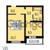 Продается квартира 1-ком 37 м² Муринская дорога 7, метро Гражданский проспект