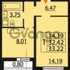 Продается квартира 1-ком 32.22 м² Парашютная улица 54, метро Комендантский проспект