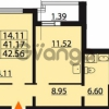 Продается квартира 1-ком 42.56 м² Парашютная улица 54, метро Комендантский проспект