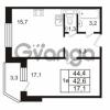 Продается квартира 1-ком 44.4 м² Колтушское шоссе 66, метро Ладожская