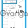Продается квартира 1-ком 26 м² улица Шувалова 1, метро Девяткино