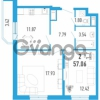 Продается квартира 2-ком 57 м² улица Шувалова 1, метро Девяткино