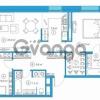 Продается квартира 2-ком 79.69 м² Комендантский проспект 58к 1, метро Комендантский проспект