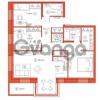 Продается квартира 3-ком 88.51 м² Комендантский проспект 58к 1, метро Комендантский проспект