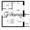 Продается квартира 1-ком 33.44 м² Австрийская улица 3, метро Улица Дыбенко