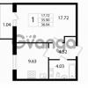 Продается квартира 1-ком 36.94 м² Австрийская улица 3, метро Улица Дыбенко