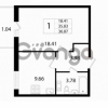 Продается квартира 1-ком 36.87 м² Австрийская улица 3, метро Улица Дыбенко