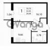 Продается квартира 1-ком 34.49 м² Австрийская улица 3, метро Улица Дыбенко