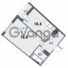Продается квартира 1-ком 33.3 м² Плесецкая улица 1, метро Комендантский проспект
