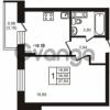 Продается квартира 1-ком 36.68 м² улица Кирова 11, метро Улица Дыбенко