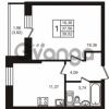 Продается квартира 1-ком 37.56 м² улица Кирова 11, метро Улица Дыбенко