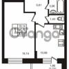 Продается квартира 1-ком 40.19 м² улица Кирова 11, метро Улица Дыбенко