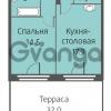 Продается квартира 1-ком 45 м² улица Кременчугская 13к А, метро Площадь Восстания