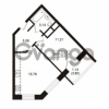 Продается квартира 1-ком 35.72 м² Школьная улица 7к 2, метро Купчино