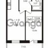Продается квартира 1-ком 42.42 м² Школьная улица 7к 2, метро Купчино