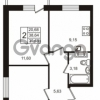 Продается квартира 2-ком 38.64 м² Петровский бульвар 1, метро Девяткино