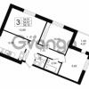Продается квартира 3-ком 54.61 м² улица Шувалова 1, метро Девяткино