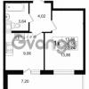 Продается квартира 1-ком 30.58 м² улица Шувалова 1, метро Девяткино