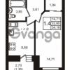 Продается квартира 1-ком 34 м² шоссе в Лаврики 74к 1, метро Девяткино