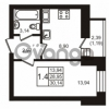 Продается квартира 1-ком 30 м² шоссе в Лаврики 74к 1, метро Девяткино