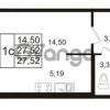 Продается квартира 1-ком 27 м² Европейский проспект 14, метро Улица Дыбенко