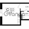 Продается квартира 1-ком 24.6 м² Выборгское шоссе 1, метро Пропект Просвещения