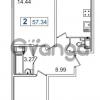 Продается квартира 2-ком 57 м² Европейский проспект 14, метро Улица Дыбенко