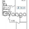 Продается квартира 2-ком 58 м² Европейский проспект 14, метро Улица Дыбенко