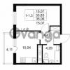 Продается квартира 1-ком 33.83 м² Комендантский проспект 53к 1, метро Комендантский проспект