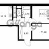 Продается квартира 2-ком 52.39 м² Комендантский проспект 53к 1, метро Комендантский проспект