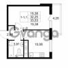 Продается квартира 1-ком 32.25 м² Комендантский проспект 53к 1, метро Комендантский проспект