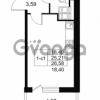 Продается квартира 1-ком 25.21 м² Комендантский проспект 53к 1, метро Комендантский проспект