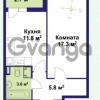 Продается квартира 1-ком 38.5 м² улица Крыленко 1, метро Улица Дыбенко