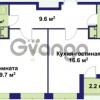 Продается квартира 1-ком 53.1 м² улица Крыленко 1, метро Улица Дыбенко