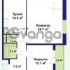 Продается квартира 2-ком 60.2 м² улица Крыленко 1, метро Улица Дыбенко