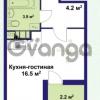 Продается квартира 1-ком 24.7 м² улица Крыленко 1, метро Улица Дыбенко
