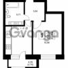 Продается квартира 1-ком 40.77 м² Ушаковская набережная 3, метро Черная речка