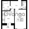 Продается квартира 1-ком 46.11 м² Ушаковская набережная 3, метро Черная речка