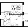 Продается квартира 1-ком 30.97 м² проспект Строителей 1, метро Улица Дыбенко