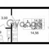 Продается квартира 1-ком 20.56 м² проспект Строителей 1, метро Улица Дыбенко