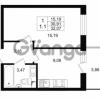 Продается квартира 1-ком 30.91 м² проспект Строителей 1, метро Улица Дыбенко