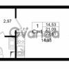 Продается квартира 1-ком 21.09 м² проспект Строителей 1, метро Улица Дыбенко