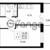Продается квартира 1-ком 30.81 м² проспект Строителей 1, метро Улица Дыбенко