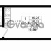 Продается квартира 1-ком 20.82 м² проспект Строителей 1, метро Улица Дыбенко