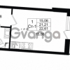 Продается квартира 1-ком 21.21 м² проспект Строителей 1, метро Улица Дыбенко