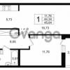 Продается квартира 2-ком 44.34 м² Шоссейная 1, метро Ладожская