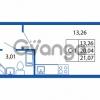 Продается квартира 1-ком 20.04 м² Европейский проспект 14, метро Улица Дыбенко