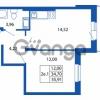 Продается квартира 1-ком 34.7 м² Европейский проспект 14, метро Улица Дыбенко