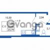 Продается квартира 1-ком 22.68 м² Европейский проспект 14, метро Улица Дыбенко