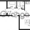 Продается квартира 2-ком 45.4 м² проспект Строителей 1, метро Улица Дыбенко